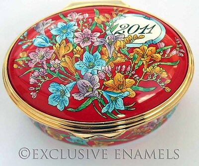 Halcyon Days Enamels Year Box 2011 New In Box Enamel Box