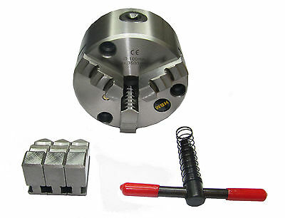 Rdgtools 125Mm 3 - Jaw Self Centering Lathe Chuck Front Mount Engineering Tools