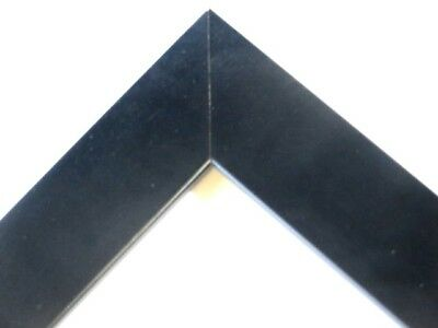 Small Flat Black Gallery Solid Wood Picture Frames-Custom Made Square Sizes