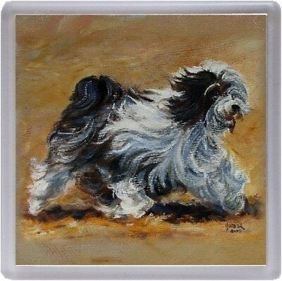 Tibetan Terrier Dog Coaster No10SH by Starprint from a painting by Susan Harper