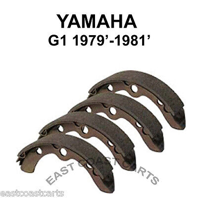 Yamaha G1 Golf Cart 1979'-1981'  Rear Brake Shoe (set 4) J10-W2536