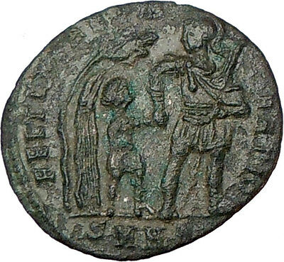 CONSTANS Constantine I  son Soldier Barbarian ANCIENT Ancient Roman Coin i23141