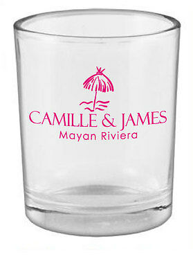 144 Personalized Wedding Favors Glass Votive Holders Custom Candle Holder