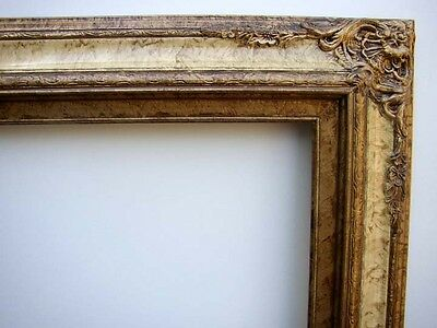 Fancy Picture Frame For 24X36 Inch Oil Painting Or Print Antiqued Gold & Cream