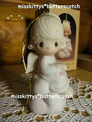 Precious Moments~ORNAMENT~But Love Goes On Forever~E-5628~Girl ANGEL~hourglass m