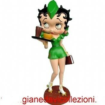 BETTY BOOP DRIVE IN 30cm RESINA DIPINTO A MANO