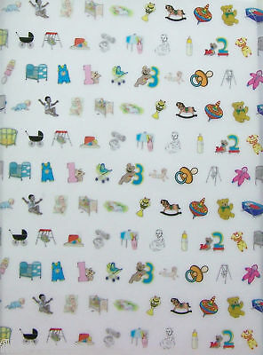 2 x A4 Baby Patterned Vellum NEW