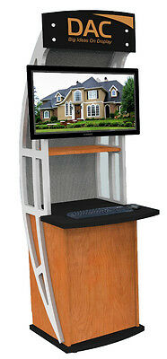 Interactive Kiosk, Trade Show Kiosk, Informational Kiosk Portable & Lockable
