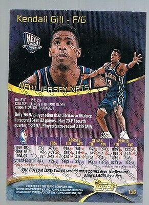 1997/98 Topps Stadium Club Members Only Kendall Gill #130 Nets