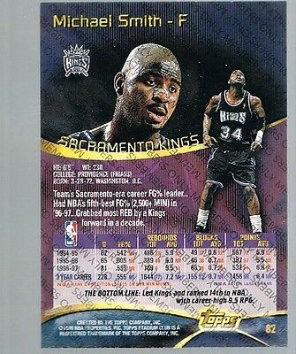 1997/98 Topps Stadium Club Members Only Michael Smith #82 Kings