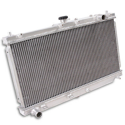 50mm ALUMINIUM ENGINE COOLING RADIATOR RAD FOR MAZDA MX5 NB MK2 1.6 1.8 01-05