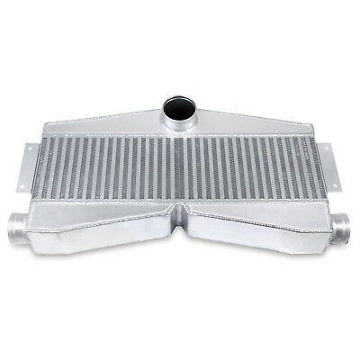 90mm UNIVERSAL TWIN TURBO CUSTOM BOOST V6 V8 ALLOY FRONT MOUNT INTERCOOLER FMIC