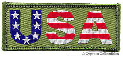 Usa Embroidered Iron-On Patch American Flag Patriotic American Flag Emblem