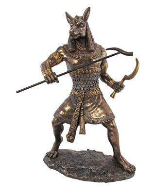 Large God Of Desert Storm Darkness Seth Statue Set Figurine Ancient Egyptian