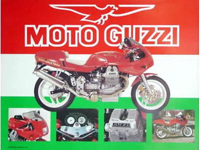 Moto Guzzi Daytona 1000 Full Color Poster Retro Vintage
