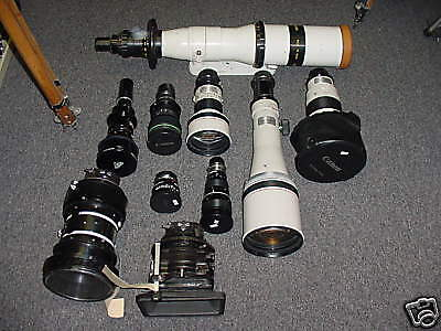 Lens lot: Zeiss, Cooke, Canon, 4 film/RED HD. ALL OFFERS CONSIDERED !!!