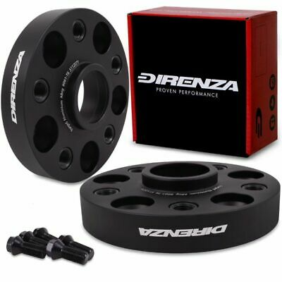 DIRENZA BLACK FORGED 25MM 5x112 WHEEL SPACERS FOR VW CADDY GOLF EOS PASSAT JETTA