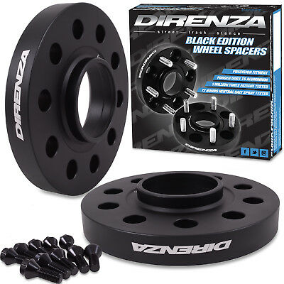 DIRENZA BLACK 5x110 20MM M12x1.5 WHEEL SPACERS FOR VAUXHALL ASTRA VECTRA OPC