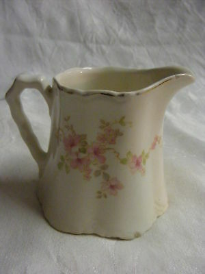 Vintage Pink Floral Creamer Radisson W S George USA