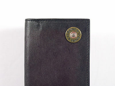 Nocona Western Checkbook Cover Wallet Billfold 12 Gauge Brown Leather Checkbook