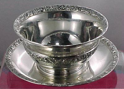 """Period TIFFANY Sterling Silver """"MAYONNAISE BOWL"""" or """"CANDY DISH"""" with UNDERPLATE"""