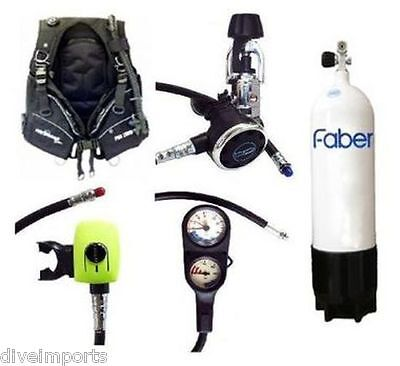 Performance Diver Pro 2000 Scuba Set with Faber Steel 12.2 Litre Cylinder