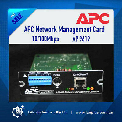 APC 10/100Mbps Network Management SNMP Card AP9619 >9617 12-mth Warranty Express