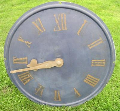 Antique Victorian Wall Mounted Copper Clock Face with Copper Hands - Fingers