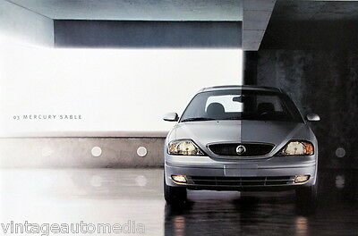 2003 Mercury Sable sedan/wagon new vehicle brochure