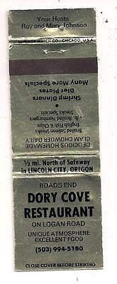 Dory Cove Restaurant Logan Road Lincoln City OR Matchbook 100411