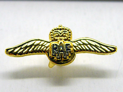 Raf Wings Design Lapel Badge Royal Air Force R A F Free Gift Pouch Mod Approved