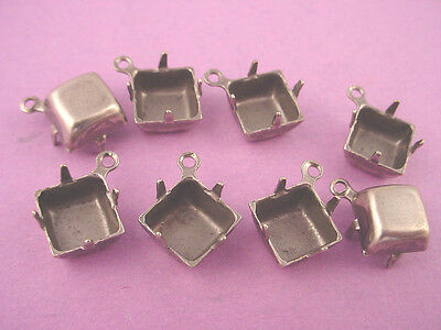 Silver Ox Square Pronged Settings 8mm 1Ring CB