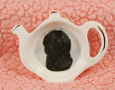 Briard Dog Bone China Tea Bag Tidy No 2 by Starprint - Auto combined postage