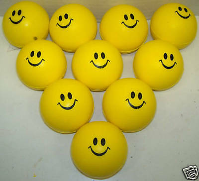 Lot of - 48 - Smiley Face Stress/Squeeze Balls.