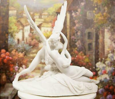 Eros And Psyche Statue Cupid Figurine Classic White Resin Cupid Love