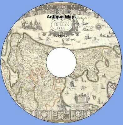 Antique Maps History - Geography - Art & Craft CD Rom New