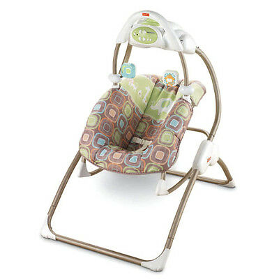 FISHER PRICE COCOA SORBET FASHION 2 IN 1 SWING ROCKER COMBO NEW