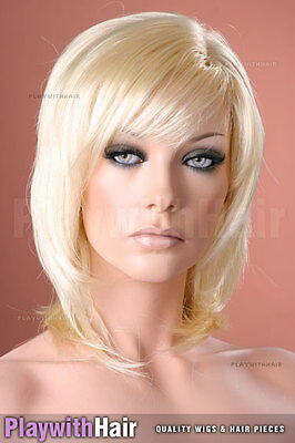 Classic Silky Layered Wig - COLOUR CHOICES! Blonde Platinum Ash Sandy