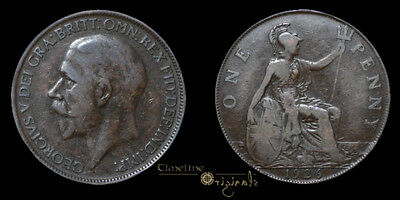 Rare George V 1926Me Milled Modified Copper Effigy Penny Coin 023385