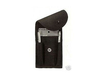 Nylon Police Emt Ems Sheriff Security Duty Belt Memo Book Pad Holder Case Clip