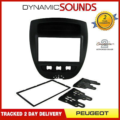 CT23PE07 Car CD Stereo Double Din Fascia Surround Panel For Peugeot 107 2005>
