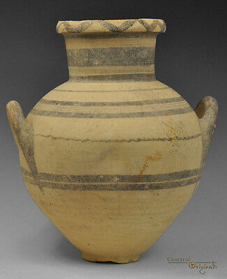 LARGE ANCIENT CYPRO ARCHAIC I BICHROME WARE CERAMIC AMPHORA Cypriot 023426