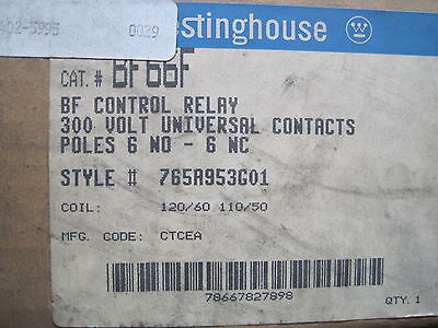 New Westinghouse Bf66F Control Relay