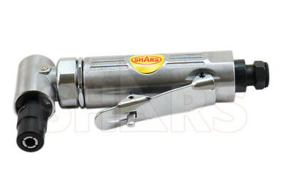 """1/4"""" 6mm RIGHT ANGLE HEA AIR DIE GRINDER PNEUMATIC BALL BEARING TOOLS SHARS"""