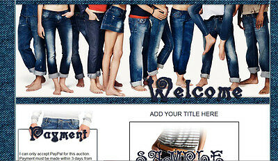 Fashion of JEANS auction template womens mens pants clothing Easy Copy Paste