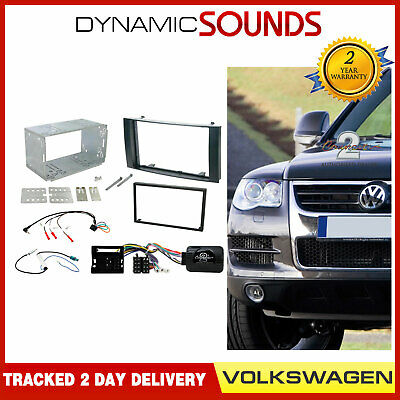 VOLKSWAGEN Touareg 2003-2010 Double Din Stereo Replacement Fitting Kit CTKVW03