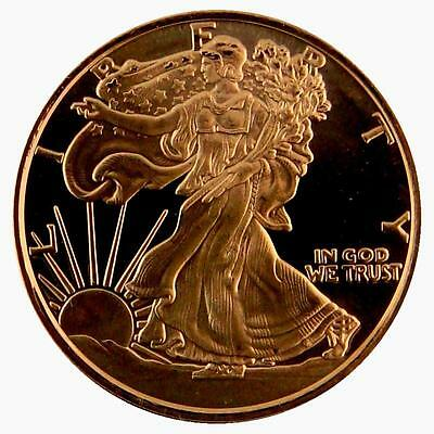 2011 American Walking Liberty .999 Copper 1 Oz Coin