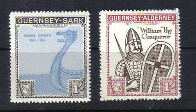 1966 Norman Conquest. Both issues Sark/Alderney. Fine unmounted mint.