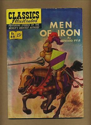 Classics Illustrated 88 - HRN 89 (Strict VG-; 1st PRINT) Men of Iron by Howard P