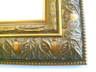 """2.5"""" Large Wide Grecian Gold Canvas Picture Frame-Custom Made Standard Sizes"""